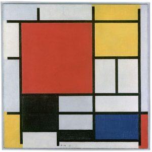 Piet Mondrian 1921 Composition en rouge, jaune, bleu et noir